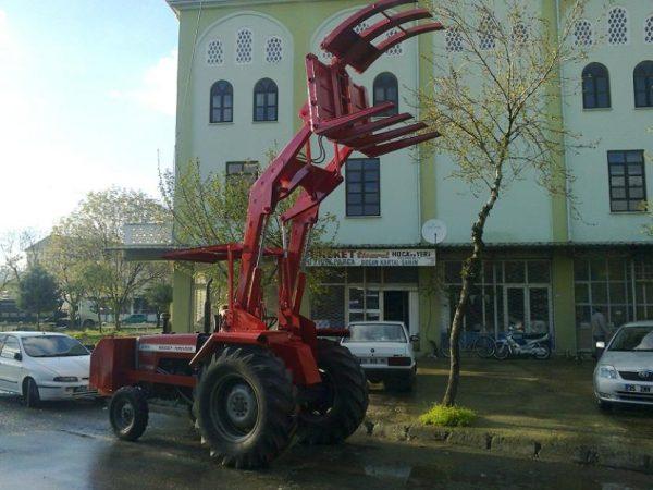 Tomruk yükleyici traktör kepçe (12)