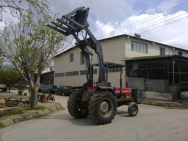Tomruk yükleyici traktör kepçe (14)