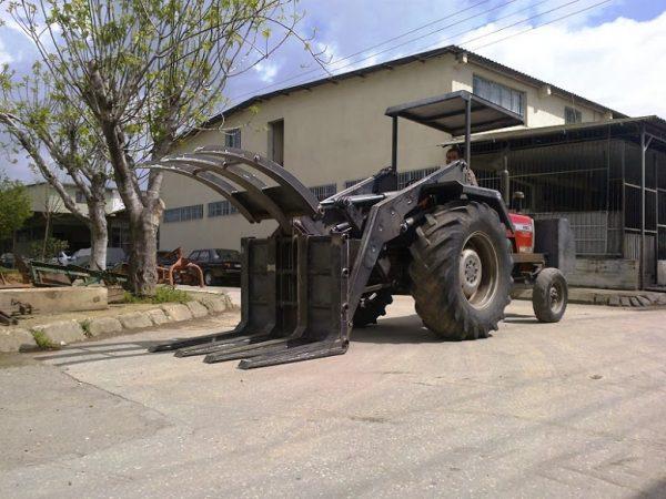 Tomruk yükleyici traktör kepçe (5)